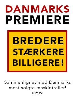 Danmarkspremiere - Ny Ifor Williams maskintrailer