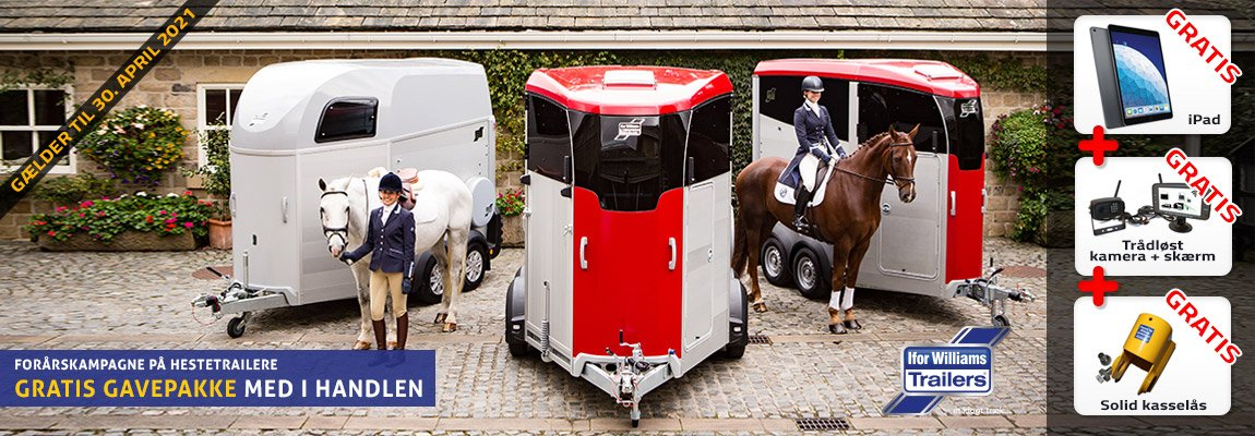 Ifor Williams hestetrailer forårskampagne tilbud