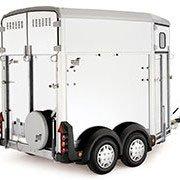 Hvid Ifor Williams HB506 hestetrailer