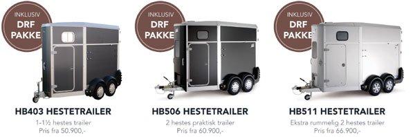 Ifor Williams hestetrailer inkl. stor gratis udstyrspakke