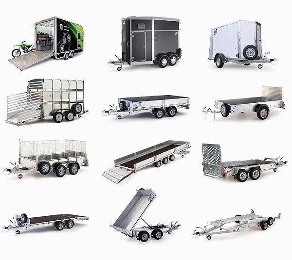 Skaffetrailer - Trailermodel: Autotrailer, Tiptrailer, Ladtrailer, Maskintrailer, Hestetrailer, Vippeladstrailer, Kassetrailer, Husdyrstrailer og Fritidstrailer