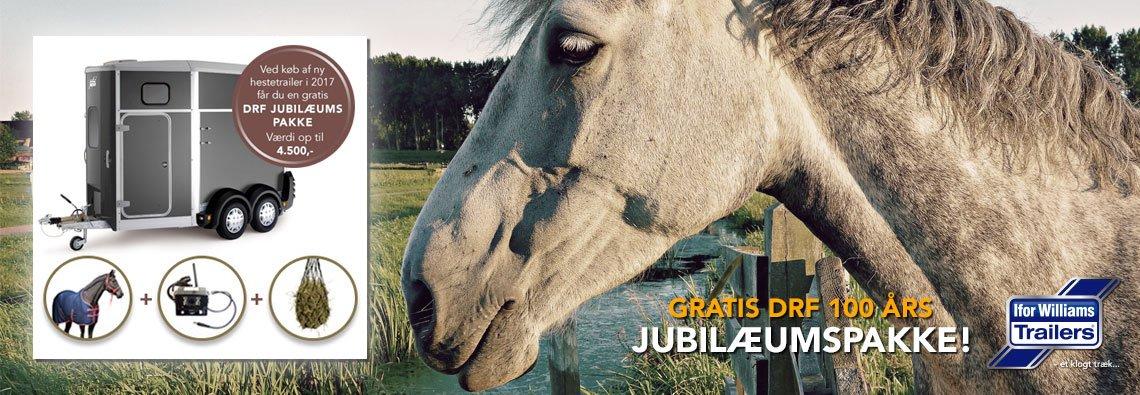 Kampagne - Ifor Williams DRF 100 år jubilæums hestetrailer tilbud